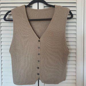 Tops - Vintage Neutral Sleeveless Top